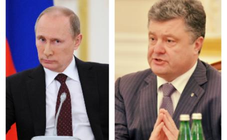 Vladimir Putin si Petro Porosenko