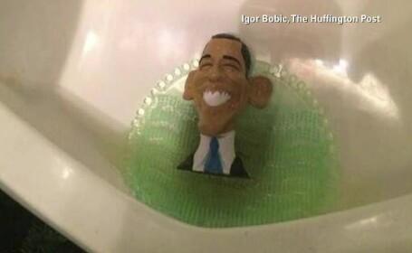 Gluma a conservatorilor americani, care au pus figurine cu Barack Obama in toalete. Ce reactie a avut presedintele SUA