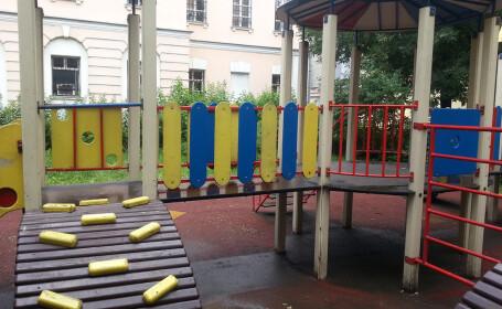 lama de ras in parc