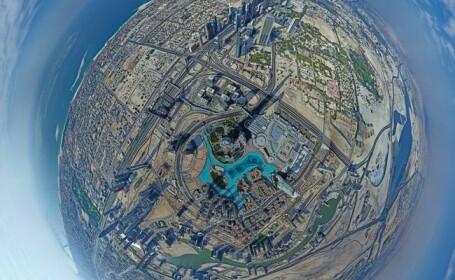 Lumea vazuta din varful celei mai inalte cladiri construite vreodata: VIDEO