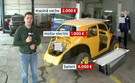 Cat costa sa-ti transformi o masina normala intr-una electrica. La final, autoturismul va consuma 1 EURO/100km
