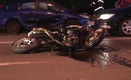 accident de motocicleta Bistrita