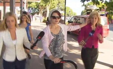Patania unei reporterite in timpul serviciului. Ce a facut de a primit o tigara aprinsa pe obraz. VIDEO