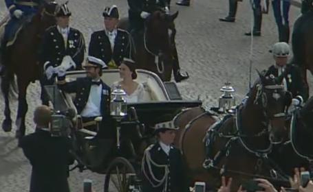 Nunta de basm in Suedia. Printul Carl Philip s-a casatorit cu Sofia, o femeie fara sange albastru, fosta chelnerita si model