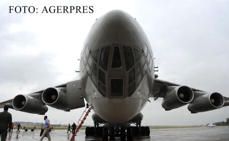 Aeronava de transport Iliusin Il-78, a Pakistan Aeronautical Complex Kamra, aterizeaza pe Aeroportul International Bucuresti Baneasa 'Aurel Vlaicu' pentru a participa la cel mai mare show aerian din Romania, Bucharest International Air Show & General Avia