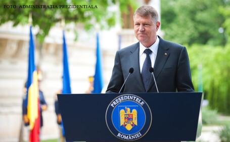 Klaus Iohannis la Cotroceni in gradina palatului