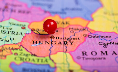 Ungaria harta - Shutterstock