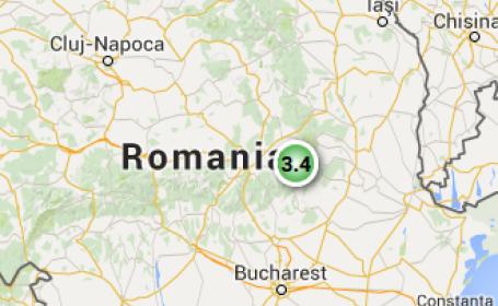 Un cutremur de magnitudine 3,4 a fost inregistrat in judetul Buzau