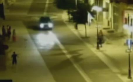 Imagini cu accidentul in care o fetita de 3 ani din Botosani a fost lovita de masina unui politist. Ce s-a aflat la cercetari