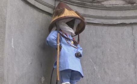Manneken Pis, statuia simbol din Bruxelles, a urinat lapte. Care este semnificatia din spatele momentului