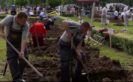 O competitie de sapat morminte a strans zeci de gropari dornici sa-si arate abilitatile: \