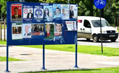 Campanie electorala pentru alegerile alegerile locale din 5 iunie - panou si afise electorale