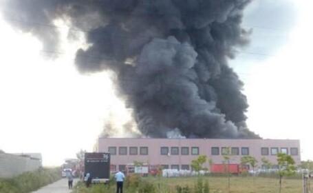 incendiu in Jilava