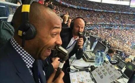Reactia lui Thierry Henry la golul care a \