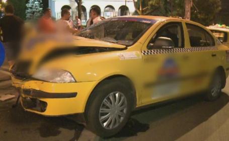 O femeie cu un copil in masina a fost lovita in plin de un taximetrist. Greseala pe care a facut-o soferita din Bucuresti