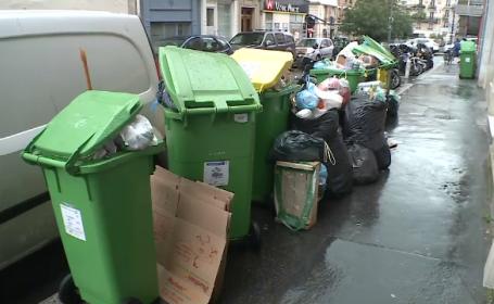 Imaginea haosului pe strazile din Paris chiar in timpul UEFA EURO: munti de gunoaie, trenuri si avioane anulate, proteste