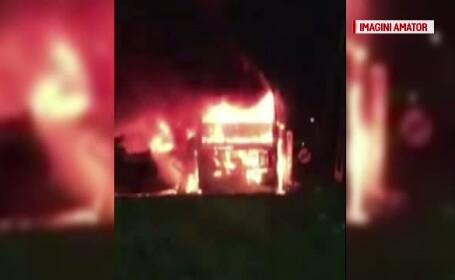 autobuz incendiu
