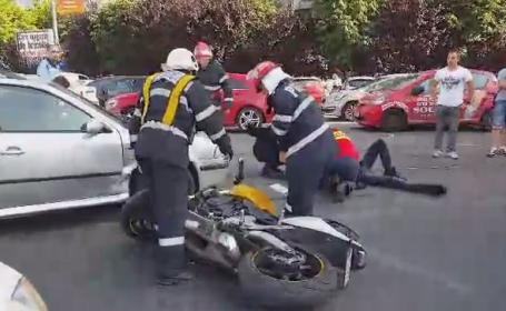 O pana de curent a provocat haos in traficul din Capitala. Motociclist ranit intr-un accident din intersectia Piata Iancului