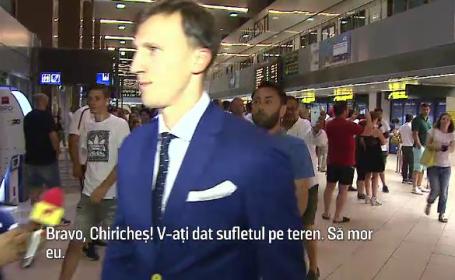Nationala Romaniei asteptata pe aeroport de fani dezamagiti: \
