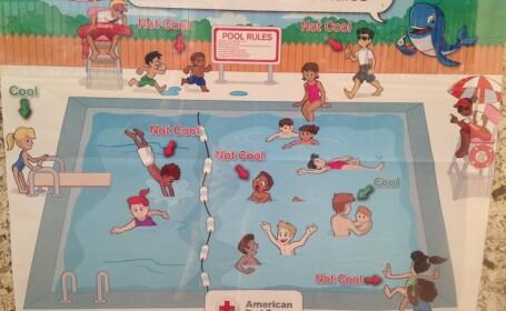 Detaliul revoltator si rasist observat pe afisul unor piscine din Colorado. Imaginea s-a viralizat pe internet