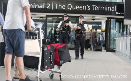 politisti britanici pe Heathrow