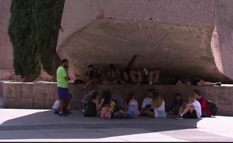 Canicula in capitala Spaniei, la mijlocul lui iuniei. Timp de 2 zile, temperaturile nu au scazut sub 42 de grade Celsius