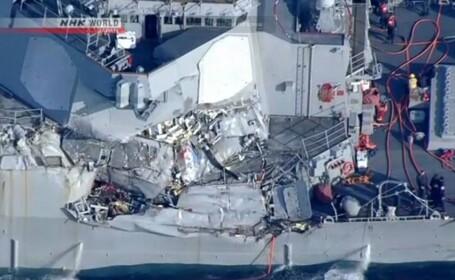 USS Fitzgerald dupa ciocnire
