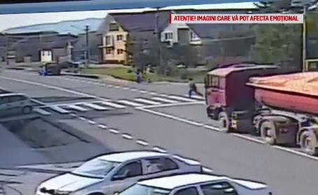 Izbita de camion pe trecerea de pietoni