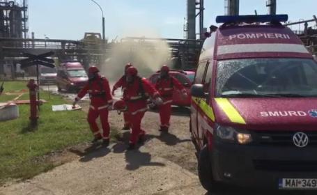 Scenariul unui exercitiu de urgenta, in Prahova: mai multe persoane au fost ranite dupa ce au avut loc doua explozii