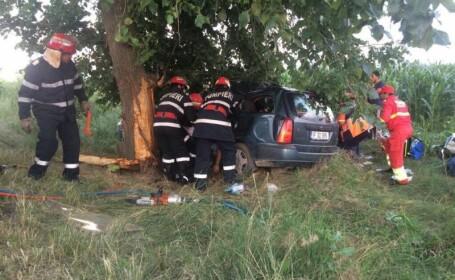 Trei morti si doi raniti grav, in urma unui accident petrecut in Calarasi. Printre victime, doua fetite de 8 si 12 ani