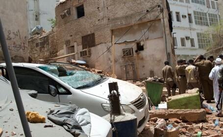 Un kamikaze s-a detonat la Mecca, unde zeci de mii de credinciosi se rugau. 11 persoane au fost ranite