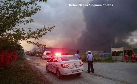 Incendiu in Balotesti, pe o suprafata de 7.000 mp