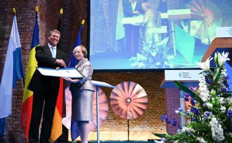 """Iohannis a primit premiul Franz Josef Strauss. """"Românii cred cu tărie în proiectul european"""""""