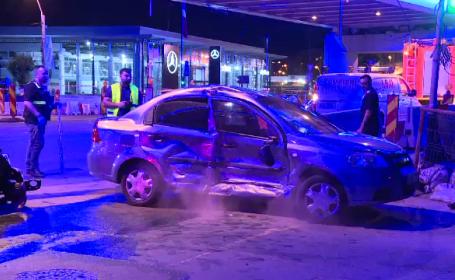 Accident petrecut sâmbătă seara în Capitală. Ambii șoferi susțin că au trecut pe verde