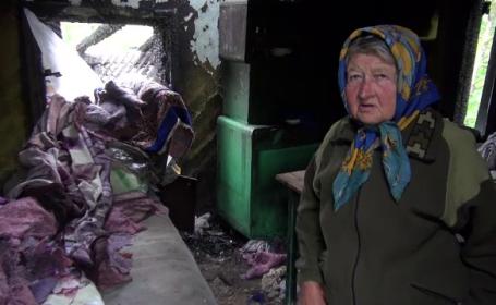 O bătrână din Neamț trăiește, de o lună, printre ruinele locuinței sale: \