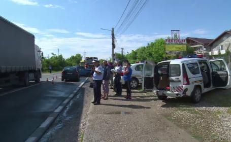 Carambol pe DN71. Cinci mașini au fost avariate