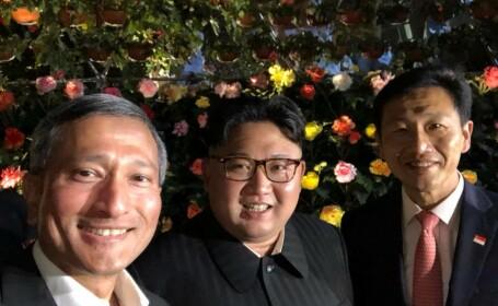 selfie cu Kim Jong-Un