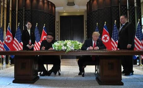 Donald Trump si Kim Jong Un