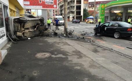 Accident grav pe o stradă din Sibiu