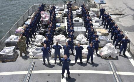Captură de droguri în valoare de 206 milioane de dolari, făcută de Garda de Coastă