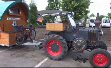Fan al Germaniei cu tractorul