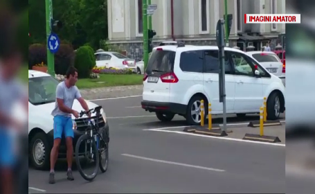 Ce a urmat după ce un brașovean și-a aruncat bicicleta în fața unui taxi