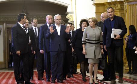 Niculae Badalau, presedintele executiv al PSD, Liviu Dragnea, presedintele PSD, Rovana Plumb, premierul Viorica Dancila, secretarul general al PSD, Marian Neacsu