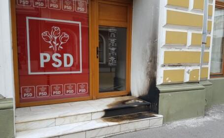 Sediul PSD Satu Mare, atacat cu sticle incendiare. Poliția a început ancheta
