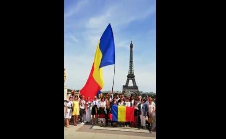 Zeci de români au manifestat în Paris împotriva Guvernului şi a modificărilor Codului de procedură penală. VIDEO