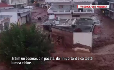 """Coșmar pentru turiștii români din Grecia. Inundațiile i-au lăsat fără mașini: """"E dezastru"""""""