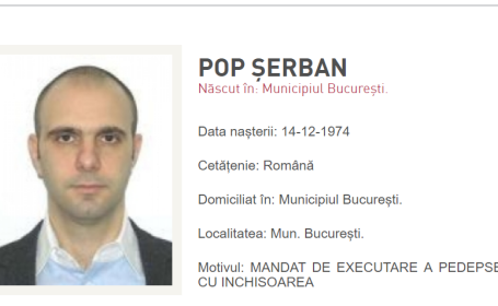 Serban Pop, urmarit de politie