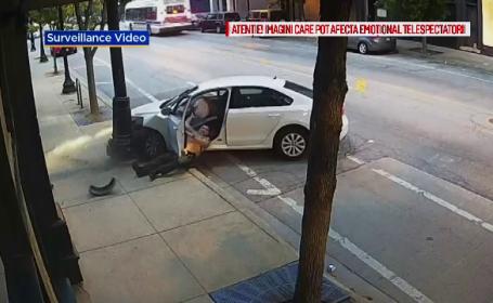 A intrat cu maşina în stâlp ca să scape de poliţistul care îl urmărea. Ce a păţit agentul