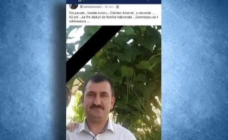 Infractorul care a ucis un polițist, în continuare liber. Este rănit și sângerează