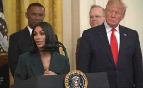 Kim Kardashian, discurs la Casa Albă despre reintegrarea foștilor deținuți în societate